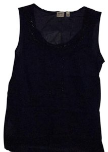 Esprit Top navy with sparkles on the collar