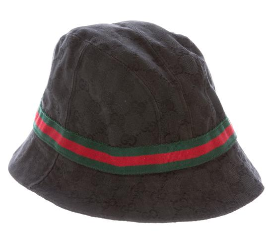gucci black gg monogram canvas bucket hat m. Black Bedroom Furniture Sets. Home Design Ideas