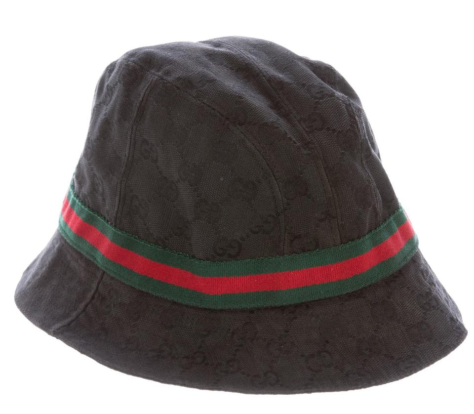 black gg monogram canvas gucci bucket hat m on tradesy. Black Bedroom Furniture Sets. Home Design Ideas