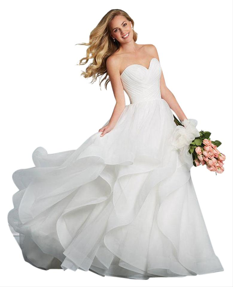 Alfred Angelo Ivory Style 2609 Traditional Wedding Dress Size 0 (XS ...