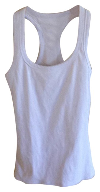 Item - White Rib Support Tank Activewear Top Size 8 (M)