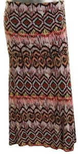 Loveappella Stretchy 1x Blue Black Maxi Skirt pink