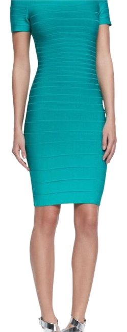 Item - Blue Green Carmen Mid-length Night Out Dress Size 4 (S)