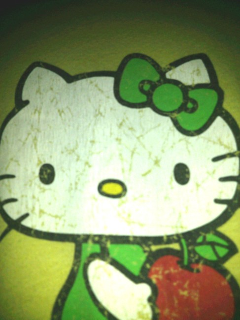 Other Rave Retro Rocker Stage Hello Kitty Juicy T-shirt T Emo Girl Women T Shirt yellow and Lime