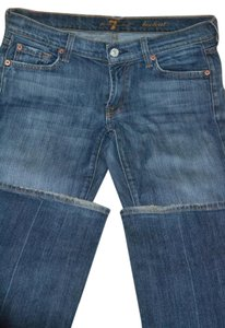 7 For All Mankind Size 28 Denim Premium Boot Cut Jeans-Medium Wash