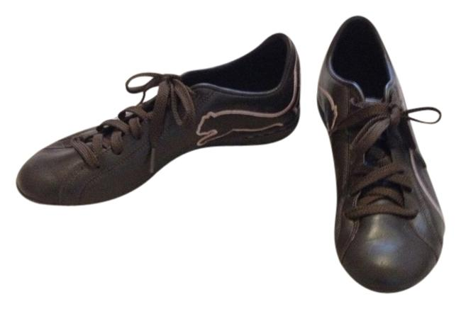 Item - Brown & Pink 344011 06 Leather Sneakers Size US 8 Regular (M, B)