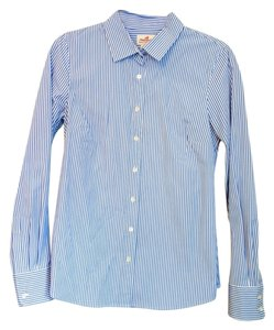 J.Crew Stripe Button Up Dress Shirt Button Down Shirt Blue Stripe
