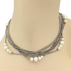 David Yurman 15418 - Pearls 18k Yellow Gold & Multi Strand Sterling Silver Necklace