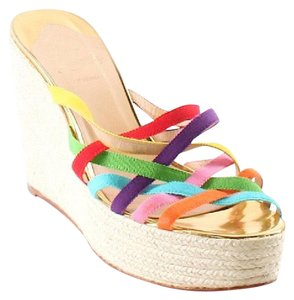 Christian Louboutin multi. colored Wedges