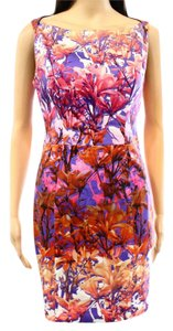 Black Halo short dress Pink, Purple, Ochre - and more on Tradesy