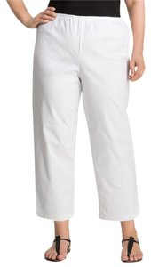 Eileen Fisher Slim Ankle Organic Straight Pants White