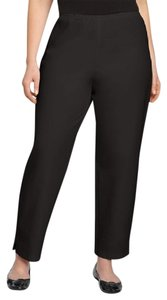 Eileen Fisher Slim Ankle Organic Straight Pants BLACK