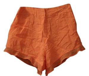 bebe Silk Mini/Short Shorts Salmon