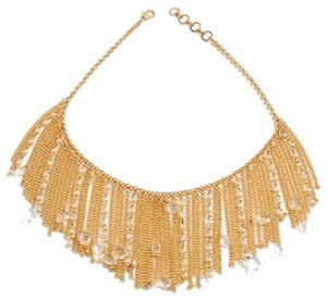 Amrita Singh Gold Chain Mixed Baby Faux Pearls Amrita Singh Bib Necklace Boho