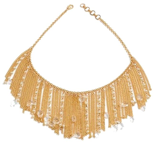 Amrita Singh Gold Pearl Chain Mixed Baby Faux Bib Boho Necklace Amrita Singh Gold Pearl Chain Mixed Baby Faux Bib Boho Necklace Image 1