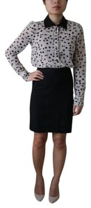 BCBGeneration Dotted Button Down Shirt Black and White