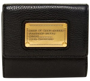 Marc by Marc Jacobs Square Fold Leather Wallet in Black ~NEW with Tags