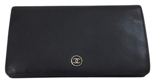 Chanel CC Logo Button Wallet