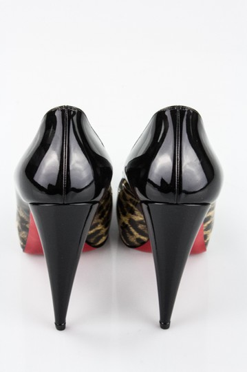 Christian Louboutin Very Conic Degrade Very Conic Size 37.5 Leopard and Black Pumps