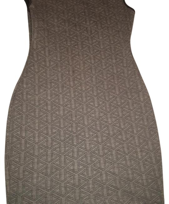 Item - Grey Fitted Short Night Out Dress Size 8 (M)