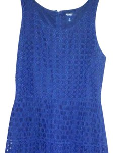 Old Navy short dress Blue Eyelet Sleeveless Short on Tradesy