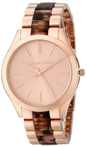 Michael Kors NWT Rose Gold-Tone Slim Runway Watch MK4301