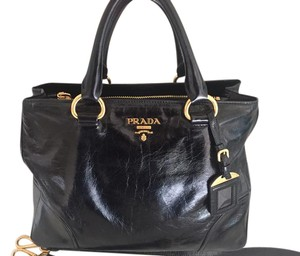 0d697cc6e430 Prada Leather Handbag Satchel in Black