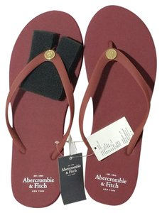 Abercrombie & Fitch Burgundy Sandals
