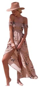 Other short dress Cream Pink Floral on Tradesy
