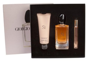 Giorgio Armani Si 3-Piece Holiday Set (EDP 3.4oz, EDP Rollerball & Lotion) NEW