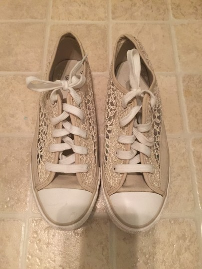 European Boutique Shell Toe Sequin Sneakers Chuck Taylor Nude Athletic