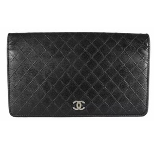 Chanel Authentic Chanel Quilted Leather Wallet/Clutch