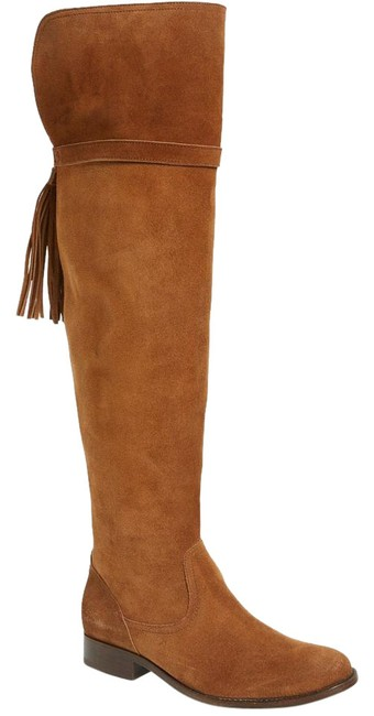 Item - Brown Molly Tassel Over The Knee Suede As Shown Boots/Booties Size US 5.5 Regular (M, B)