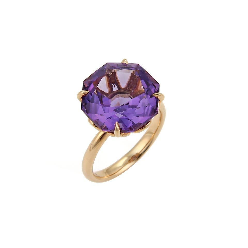 aaa817150 Tiffany & Co. Sparkler Amethyst 18k Rose Gold Solitaire Ring Image 0 ...