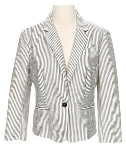 Loft Stripes Black and White Blazer