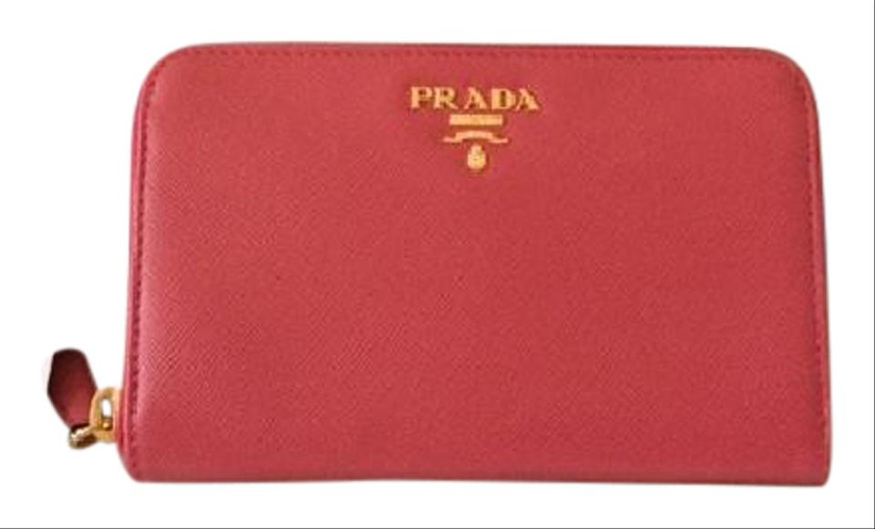 12c351899171c Prada Brand New Authentic PRADA Saffiano Compact Zip Around Wallet 1M1157  Image 0 ...