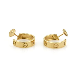 Cartier 20819 - Love 18k Yellow Gold Hoop Earrings w/Certificate