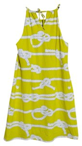 J. McLaughlin short dress Yellow, White on Tradesy