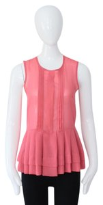 ASOS Sleeveless Ruffle Top Pink