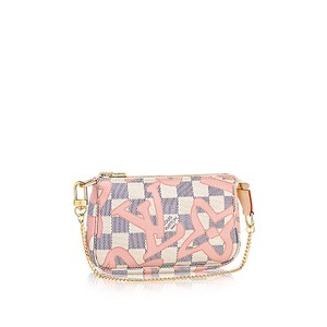 Louis Vuitton Limited Edition Wristlet in Tahitienne Damier Azur
