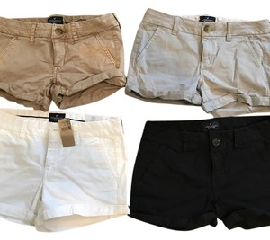 American Eagle Outfitters Cuffed Shorts Khaki, Grey, Navy, White