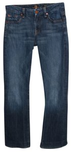 7 For All Mankind Destroyed Ripped Kimmie Boot Cut Jeans-Medium Wash
