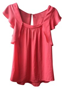 Meadow Rue Flowy Flutter Polyester Top Coral