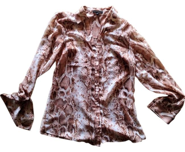 Express Top Light Pink Snake Print