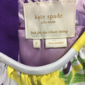 Kate Spade short dress Wht purple yellow lime on Tradesy