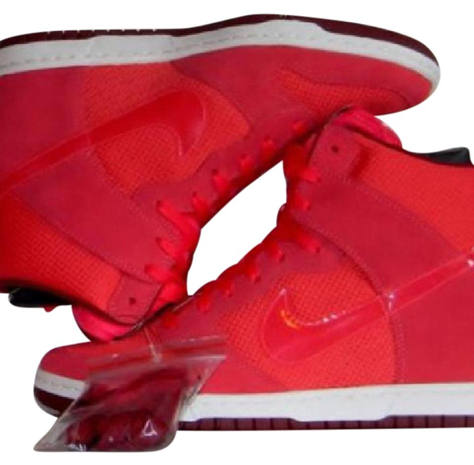 Nike Red Wedges Heels Women's Shoes