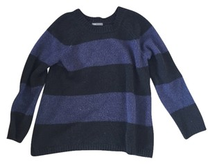 Vince Oversize Blue Black Sweater