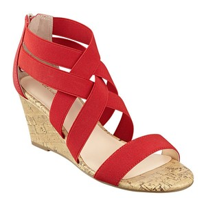 Liz Claiborne Stretchy Wedge red Sandals