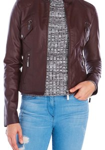 Jou Jou walnut Leather Jacket