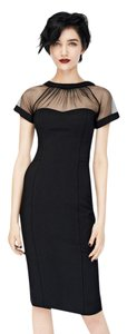 Maggy London Coctail Mesh Simple Dress